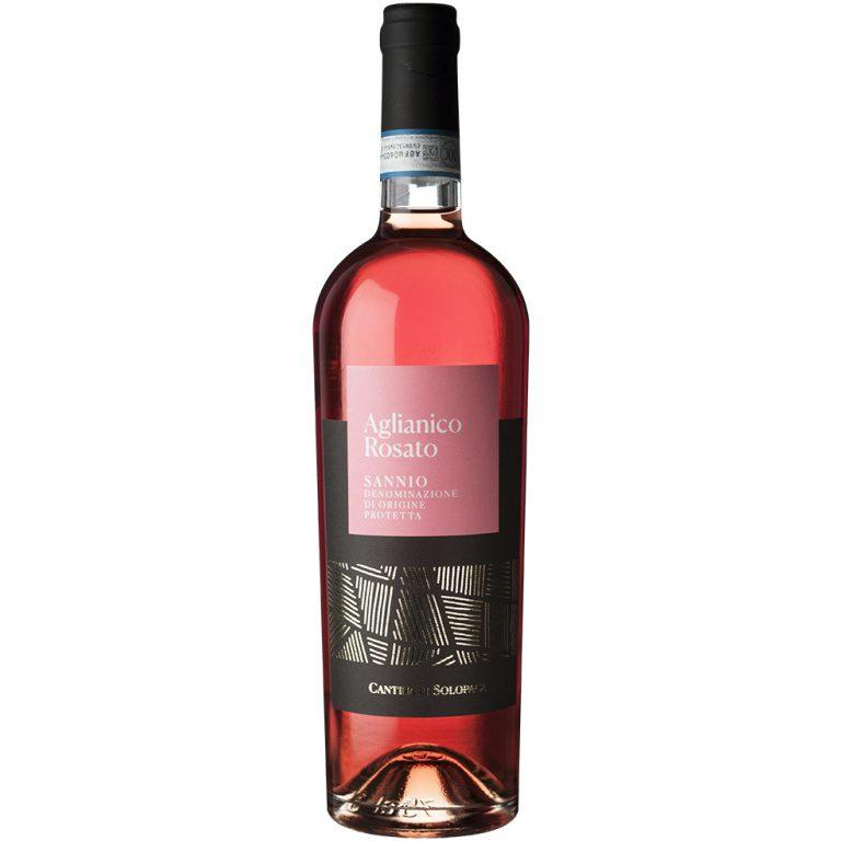 pink wine in bottle